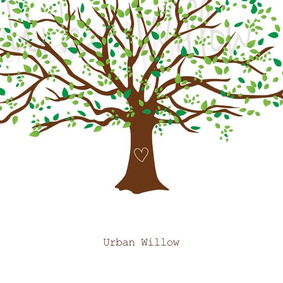 Clipart Natural Tree Large Family Tree Graphic Commercial Etsy In 2021 Family Tree Graphic Tree Graphic Clip Art