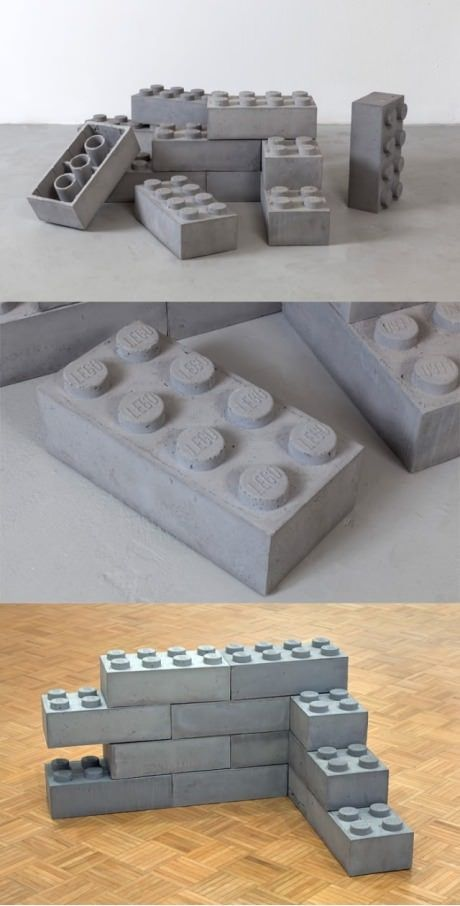 giant concrete legos