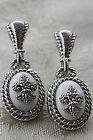 JUDITH RIPKA STERLING,CZ, WHITE AGATE FLEUR DE LIS DANGLE EARRINGS - Agate, Dangle, Earrings., FLEUR, Judith, Ripka, Sterling/Cz, White - http://designerjewelrygalleria.com/judith-ripka/judith-ripka-earrings/judith-ripka-sterlingcz-white-agate-fleur-de-lis-dangle-earrings/