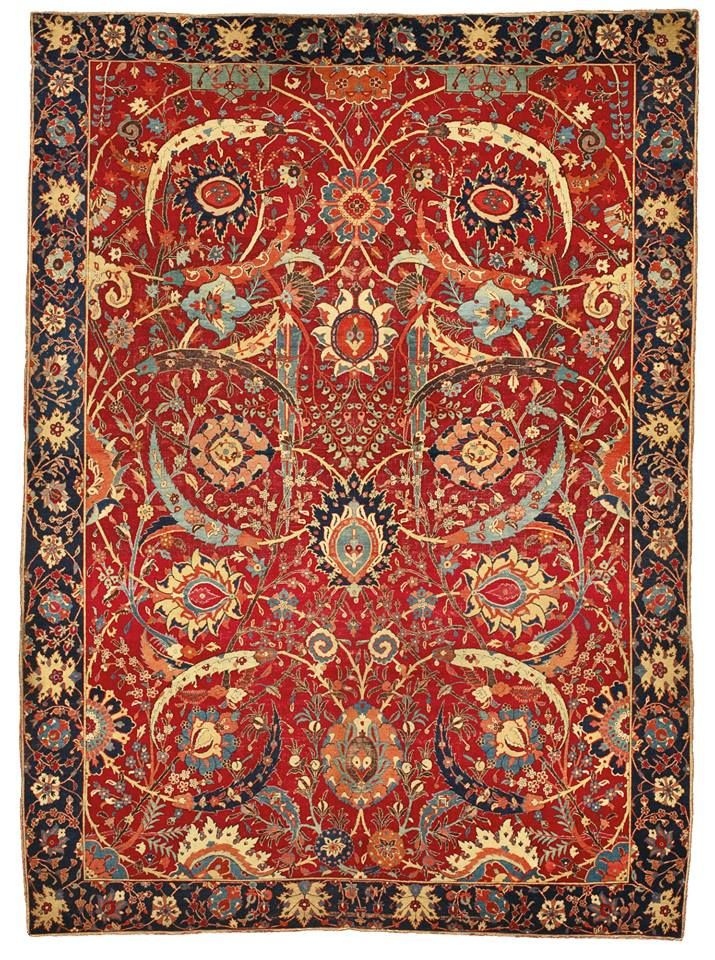 A 17th Century Persian Carpet Decorated With Vines And Flowers Sold For 33 Million At