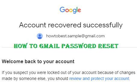 How to Gmail Password Reset If you Email or