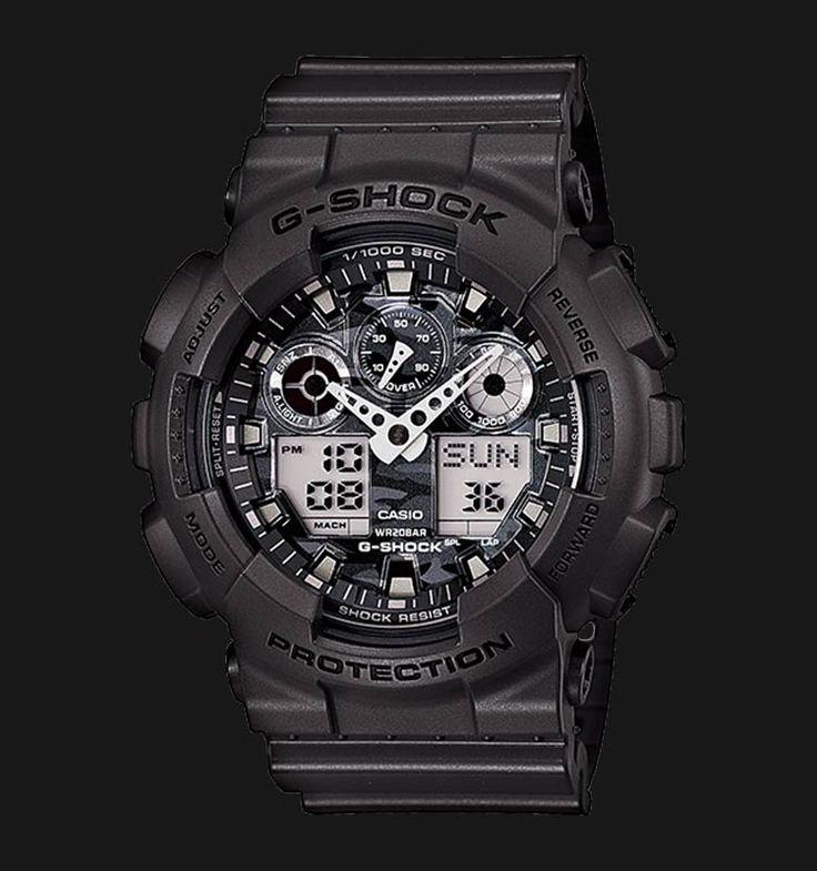 Beli jam tangan Casio G-Shock Camouflage GA-100CF-8ADR - Daftar Harga jam termurah, review, spesifikasi lengkap Indonesia di Jamtangan.com