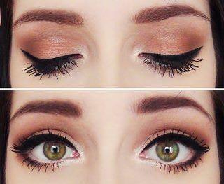green eye makeup :D