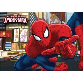 Barnmattor - Disney - Spiderman Barnmatta - Stad