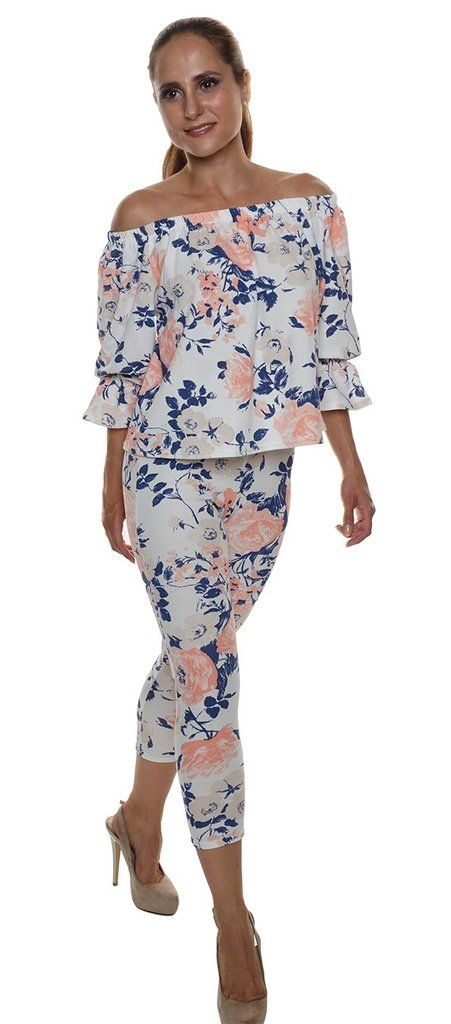 crepe style two peice off shoulder loungewear set
