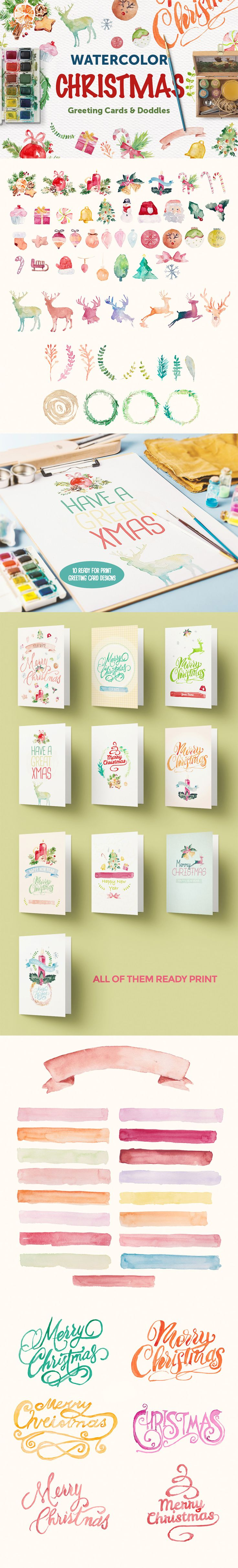 {FREE} The Massive, End of Year Freebie Bundle #christmas #watercolor
