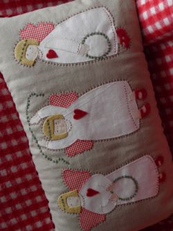 Cute pattern - pin is sideways -dandeliondesigns.co.uk Angels Pru Patsy and Penny