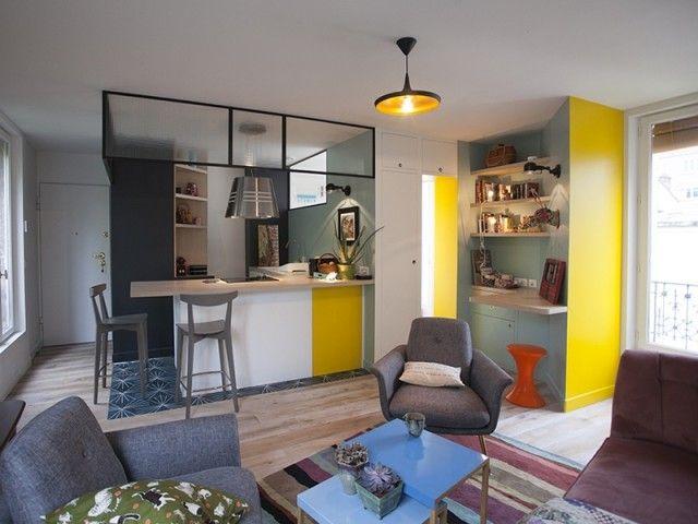 Avant/après  atypique, un 32 m2 optimisé in 2018 Cuisine Pinterest