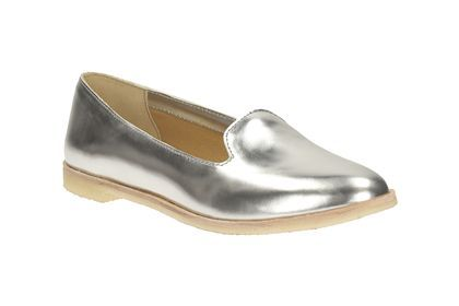 Womens Originals Shoes - Phenia Jazz in Silver Leather from Clarks shoes