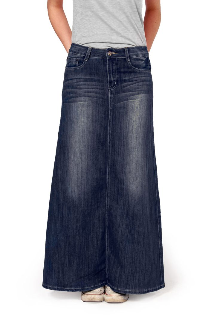 Best 20  Maxi Denim Skirts ideas on Pinterest | Long denim skirts ...