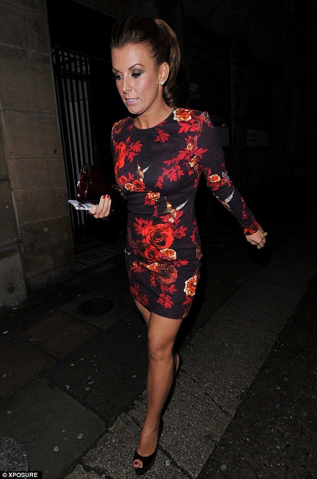Coleen Rooney steps out for a night in Liverpool wearing a floral bodycon dress