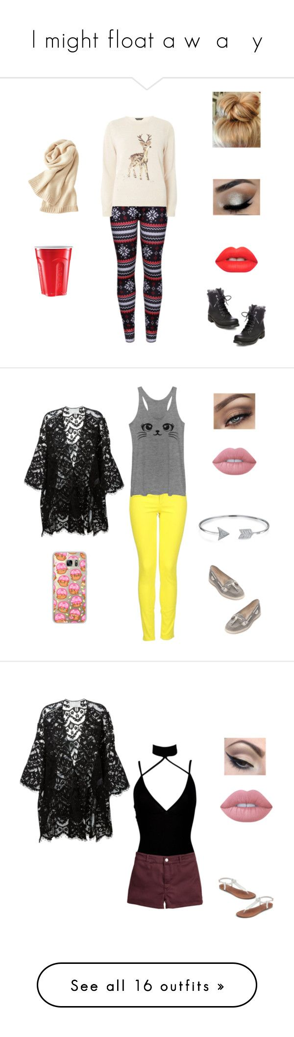 """""""I might float a w  a   y"""" by fashionistaax on Polyvore featuring WithChic, Dorothy Perkins, Steve Madden, Lime Crime, Uniqlo, bags, handbags, tote bags, purses and accessories"""