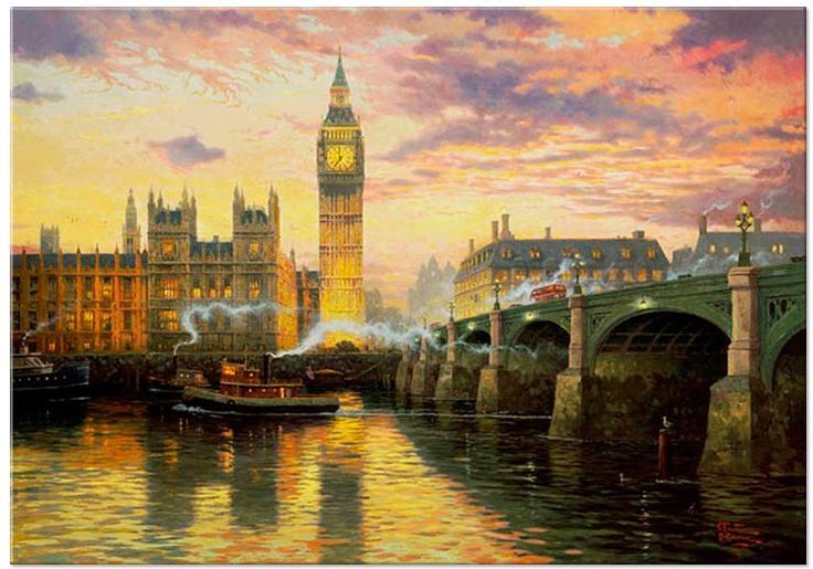 "Jigsaw Puzzles 1000 Pieces ""London"" / Thomas Kinkade #PuzzleLife"