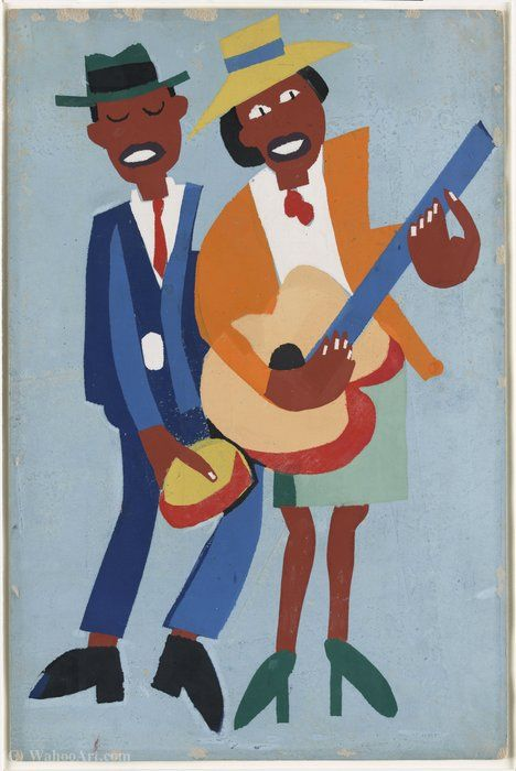 'Chanteur aveugle' de William H. Johnson