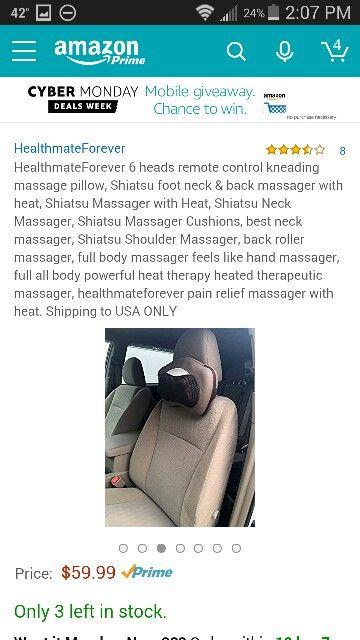 Nothing like a shiatsu neck massage while...um...driving?!