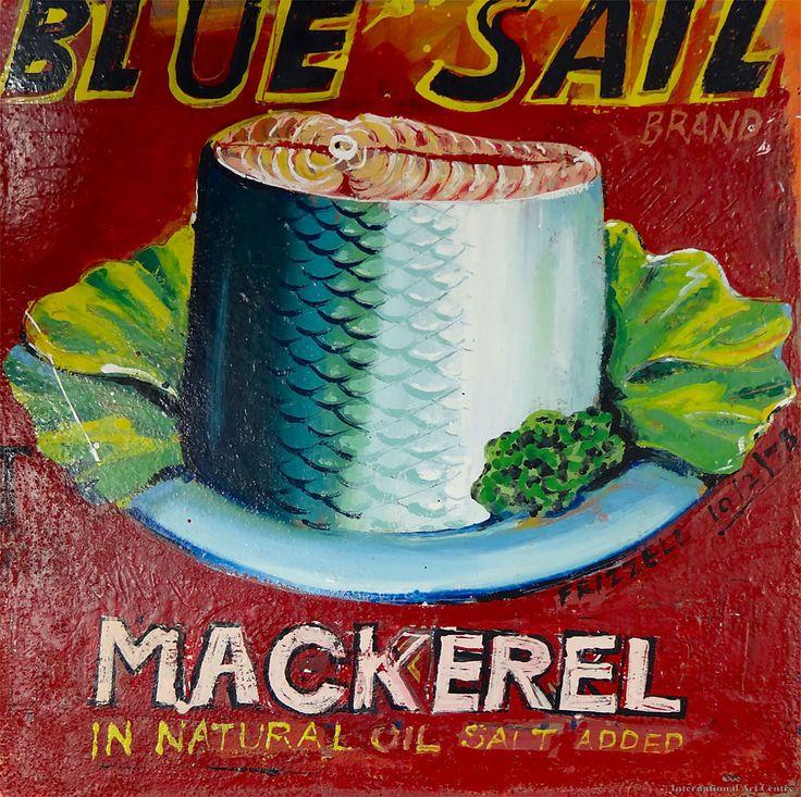 International Art Centre - Dick Frizzell - Mackerel (Blue Sail)
