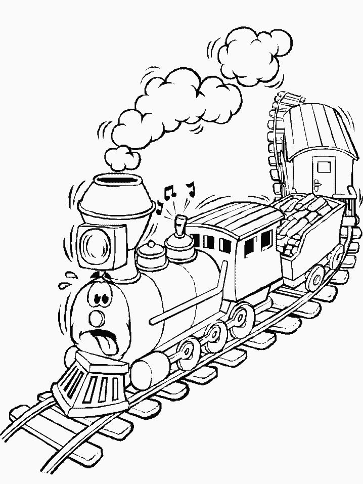 coloring book pages for trains | 39 best images about Train Coloring Sheets on Pinterest ...