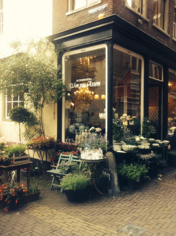 Bloemenwinkel in oud Alkmaar