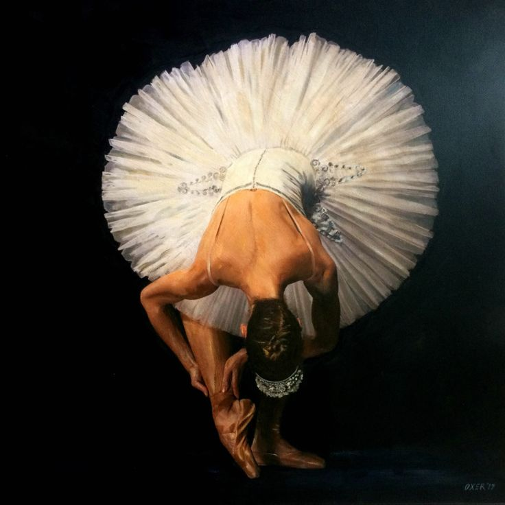 FINEARTSEEN - Ballerina original art by William Oxer. An original acrylic painting. Available with FREE DELIVERY on FineArtSeen - The Destination For Original Art.