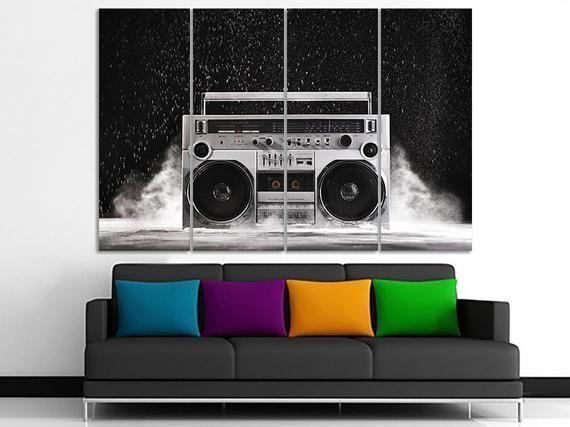 Boombox Canvas Boombox Art Music Decor Music Print Stereo Decor Stereo Art Rock Decor Acoustic Poste Canvas Art Music Boom Boombox Art Music Decor Music Print