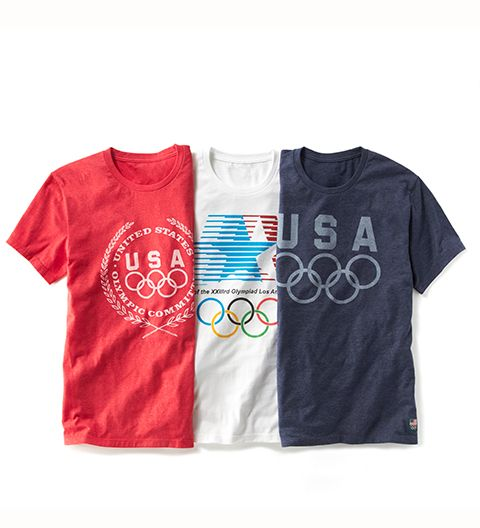 Direct your guy (or dad or bro) to this trio of vintage-inspired Olympics gear. The jersey material is softer than anything else he owns, and comes with a built-in cool factor, thanks to the classic design. Bonus points if you can get him to layer it underneath a denim jacket or corduroy blazer. Also makes for a gold-medal-winning gift for any summer birthdays.