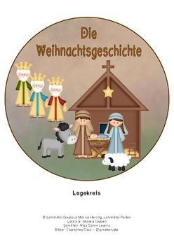 Legekreis: Weihnachtsgeschichte in einfachem Deutsch mit hübschen Bildern.