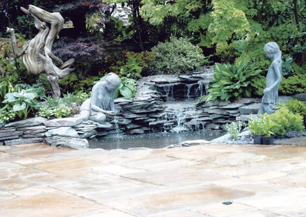 You could not step twice into the same rivers; for other waters are ever flowing on to you.          --  Heraclitus of Ephesus: Gardens Ideas, Mediterranean Gardens, Water Gardens, Gardens Water Features, Contemporary Gardens, Gardens Water Fountain, Gardens Projects, Gardens Features, Beautiful Gardens