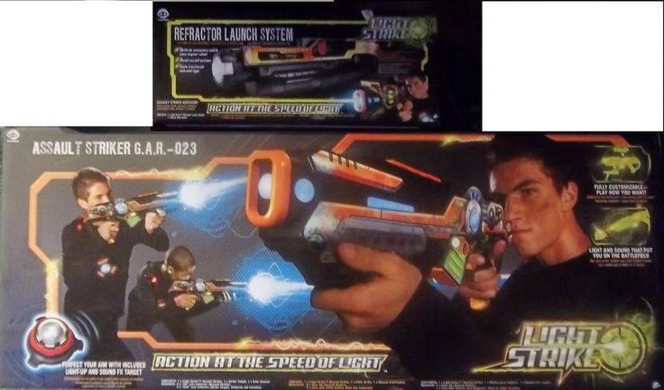 WowWee Light Strike Assault Striker G.A.R. 023 also Refractor Launch System #WowWee