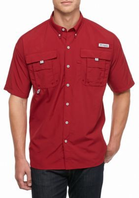 Columbia Beet Big  Tall PFG Bahama8482 II Short Sleeve Shirt