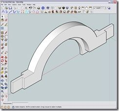 Sketchup tutorials - designing curved shapes for woodworking