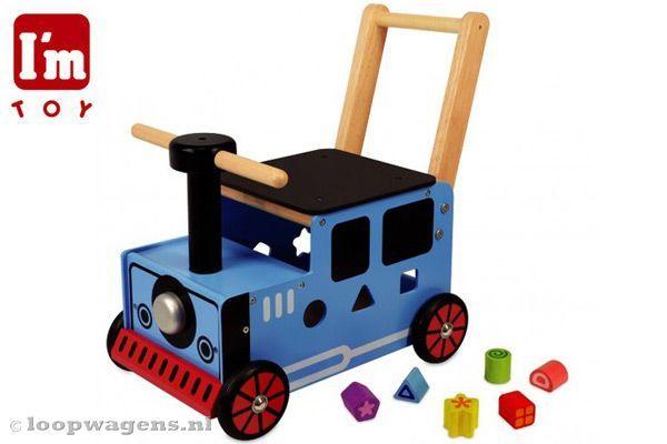 I'm Toy Locomotief blauw   Loopwagens.nl