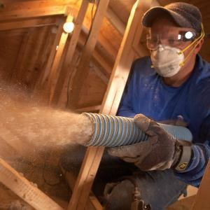 Blown-in (or cellulose) insulation is environmentally friendly - it's made from recycled newspaper. It's also cheaper than traditional fiberglass insulation.