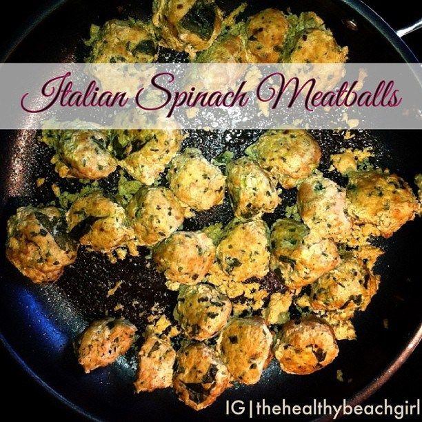 Italian Spinach Meatballs | Meat | Pinterest