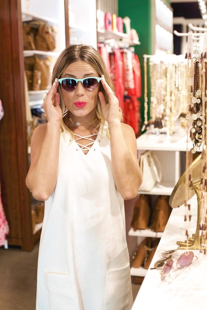 Charming Charlie white dress | Charming Charlie Sunglasses | White Summer Dress | Uptown with Elly Brown