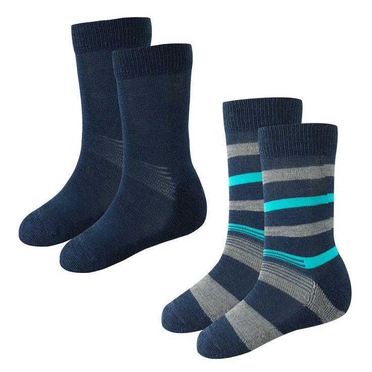 Wool Sock Kids 2-p Sukka villalaatua, vahvistettu pohja. Pienimmät koot (25-28) liukuesteellä.  Koko: 25-28, 29-32, 33-36 Materiaali: 36% merinovilla, 36% akryyli, 26% polyamidi, 2% elastaani