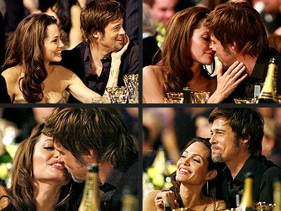 Brad and Angelina - At the Grammy Awards