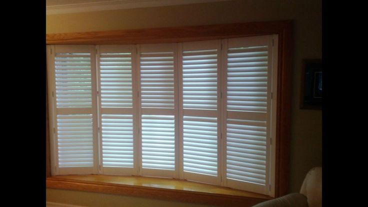 Flat Roman Shades Bay Window