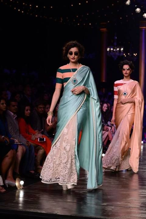 Sabyasachi Mukherjee. LFW 2013 best!  Obsessed with this saree blouse combo