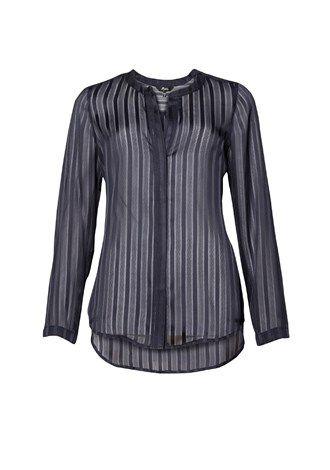 Lurex Stripe Blouse 1