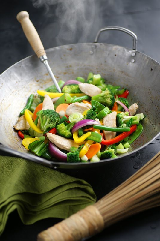 Chicken and Broccoli Stir Fry Over Noodles