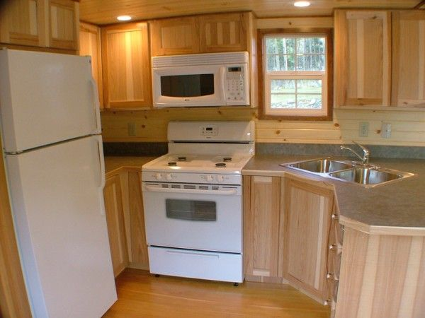***would be an awesome tiny house kitchen***Tiny Houses On Wheels Floor Plans | Spacious Cabin on Wheels with Large Windows | Tiny House Pins
