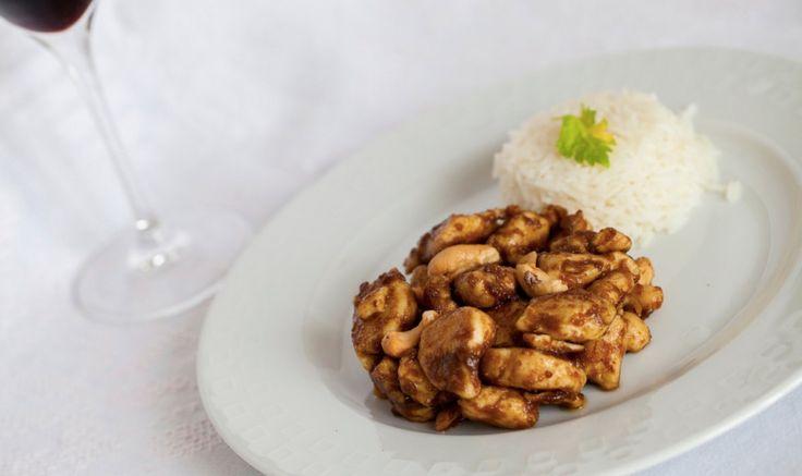 Pollo con anacardi e riso Basmati