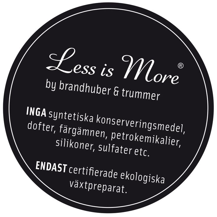 Less is More - Organic Haircare