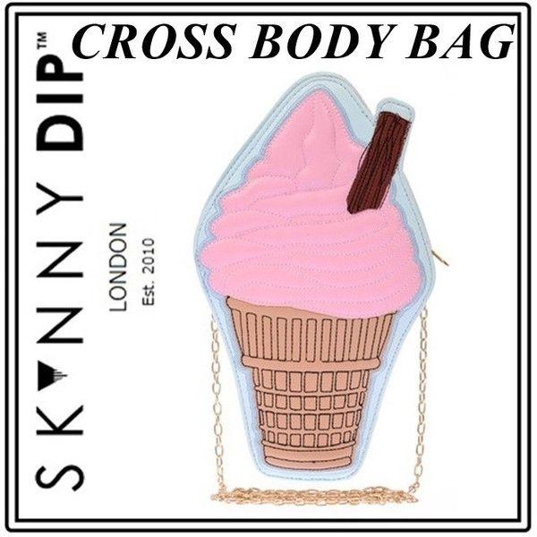アウトレット skinnydip スキニーディップ ロンドン かわいい アイスクリーム クロスボディ ゴールド チェーン 肩掛けバッグ 斜めがけ baggu 海外 ブランド