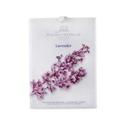 WOODS OF WINDSOR LAVENDER by Woods of Windsor for WOMEN: DRAWER & WARDROBE SACHET by Woods of Windsor. $3.90. Design House: Woods of Windsor. This delicately fragranced Woods of Windsor sachet can be placed in drawers or hung in your wardrobe to gently fragrance clothes and linen.