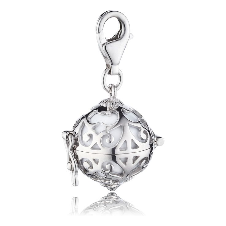 Silver Charm with White Soundball