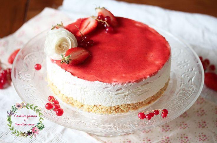 | Cheesecake fraise and fleur d'oranger | http://carottesjaunestomatesroses.com