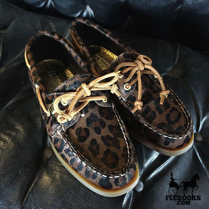 Women's Sperry | Authentic Original Top-Sider | Dark Brown Leopard
