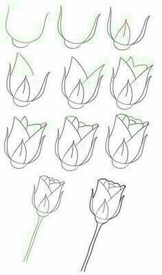How To Draw A Rose By Candice Step Art