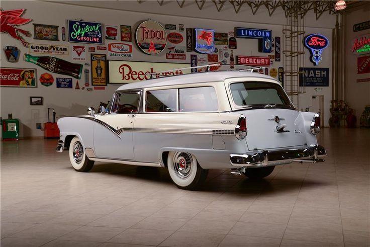 1956 ford parklane 2 door station wagon barrett jackson for 1956 ford 2 door station wagon